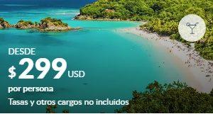 Antillas y Caribe Sur desde Panama 299 $